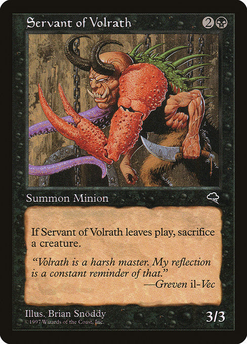 Servant of Volrath [Tempest] | Myrtle Beach Games & Comics