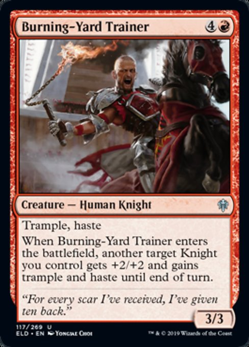 Burning-Yard Trainer [Throne of Eldraine]  | My Pop Culture | New Zealand