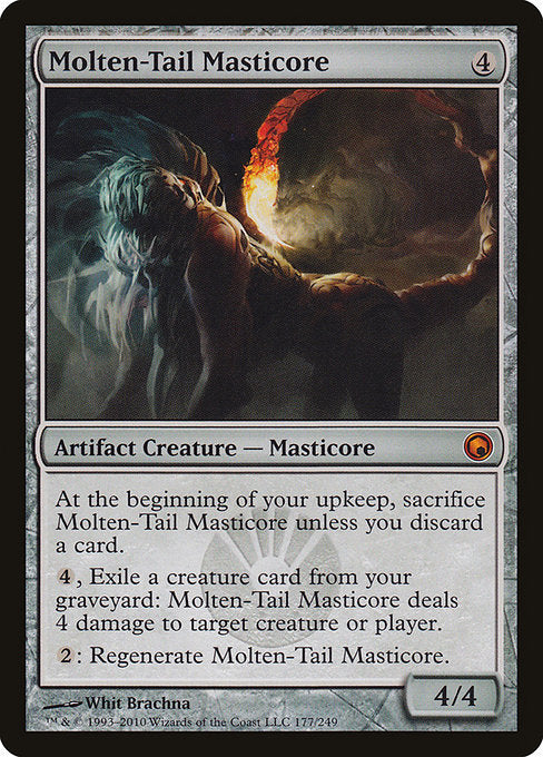 Molten-Tail Masticore [Scars of Mirrodin] | Myrtle Beach Games & Comics