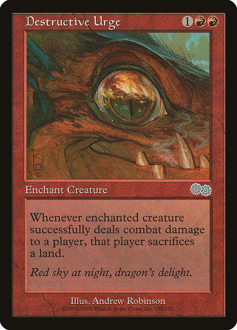 Destructive Urge [Urza's Saga] | Myrtle Beach Games & Comics