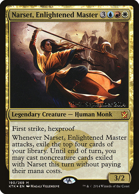 Narset, Enlightened Master [Khans of Tarkir Promos] | Myrtle Beach Games & Comics