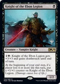 Knight of the Ebon Legion [Promo Pack: Core Set 2020]  | My Pop Culture | New Zealand