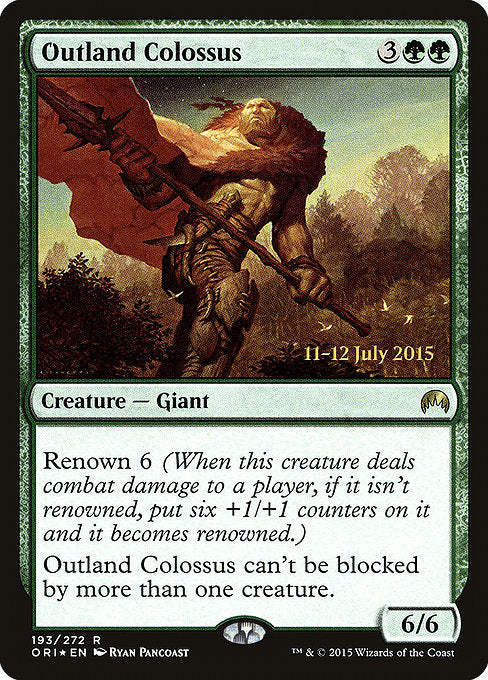 Outland Colossus [Magic Origins Promos] | Myrtle Beach Games & Comics
