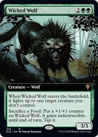 Wicked Wolf (Extended Art) [Throne of Eldraine] | Myrtle Beach Games & Comics