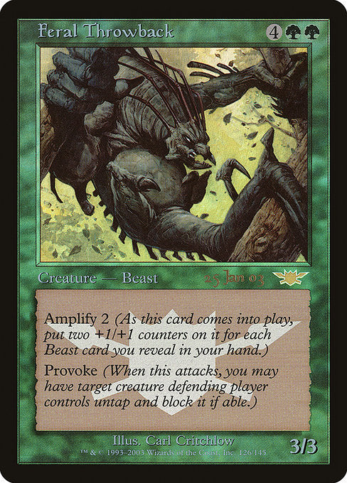 Feral Throwback [Prerelease Events] | Myrtle Beach Games & Comics