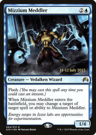 Mizzium Meddler [Magic Origins Promos] | Myrtle Beach Games & Comics