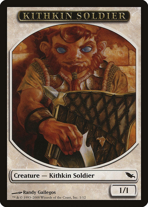 Kithkin Soldier [Shadowmoor Tokens] | Myrtle Beach Games & Comics