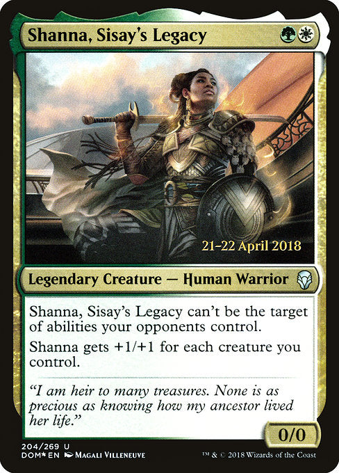 Shanna, Sisay's Legacy [Dominaria Promos]  | My Pop Culture | New Zealand