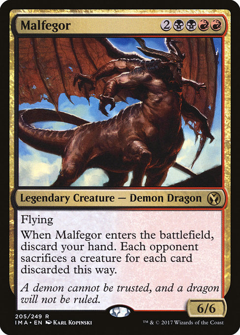Malfegor [Iconic Masters] | Myrtle Beach Games & Comics