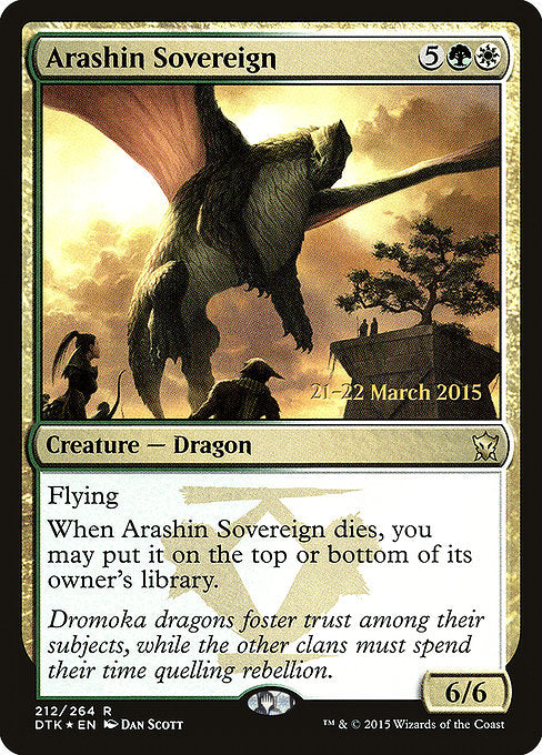 Arashin Sovereign [Dragons of Tarkir Promos] | Myrtle Beach Games & Comics