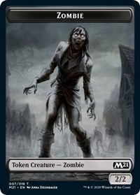 Zombie Token [Core Set 2021] | Myrtle Beach Games & Comics