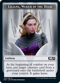 Emblem - Liliana, Waker of the Dead [Core Set 2021] | Myrtle Beach Games & Comics