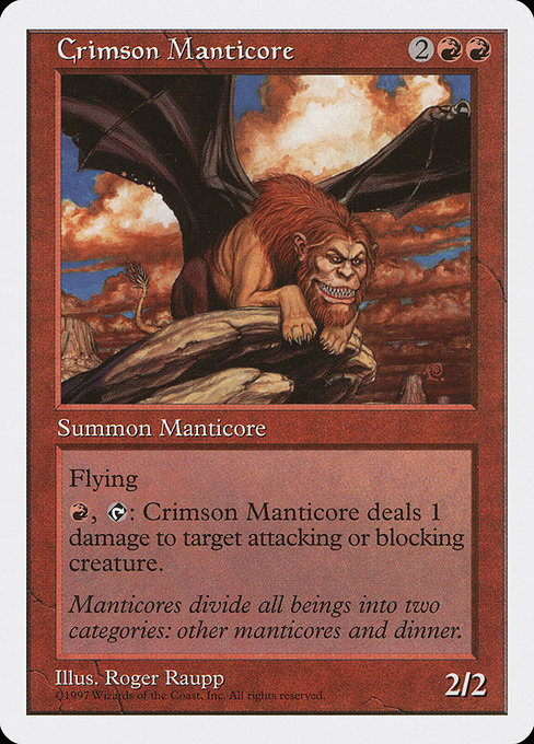 Crimson Manticore [Fifth Edition] | Myrtle Beach Games & Comics