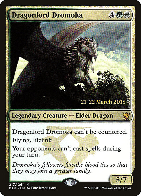 Dragonlord Dromoka [Dragons of Tarkir Promos] | Myrtle Beach Games & Comics