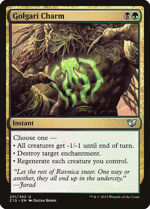 Golgari Charm [Commander 2015] | Myrtle Beach Games & Comics