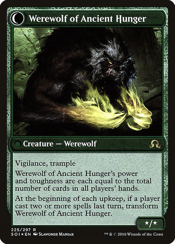 Sage of Ancient Lore // Werewolf of Ancient Hunger [Shadows over Innistrad Promos] | My Pop Culture | New Zealand