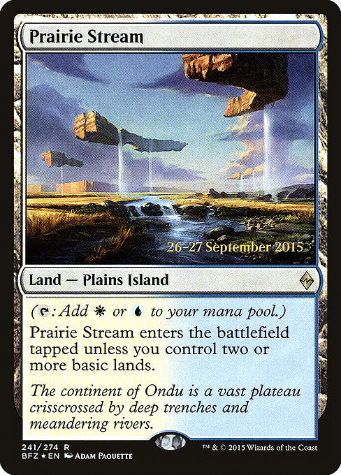 Prairie Stream [Battle for Zendikar Promos] | Myrtle Beach Games & Comics