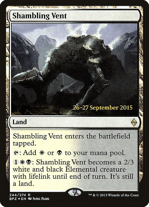 Shambling Vent [Battle for Zendikar Promos] | Myrtle Beach Games & Comics