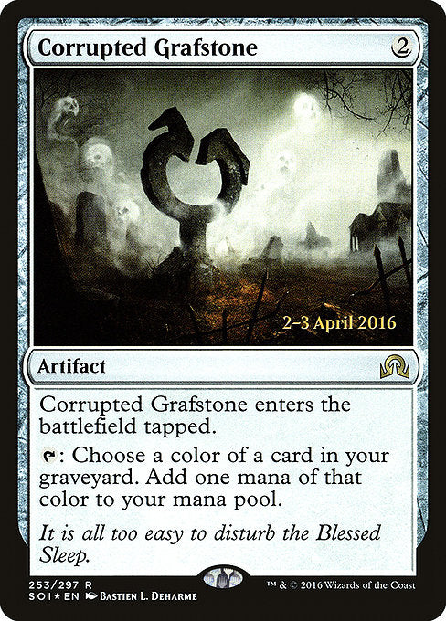 Corrupted Grafstone [Shadows over Innistrad Promos] | Myrtle Beach Games & Comics
