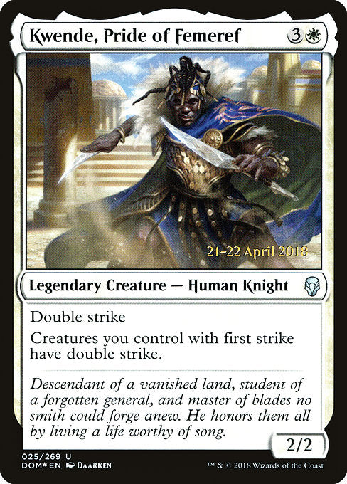 Kwende, Pride of Femeref [Dominaria Promos] | Myrtle Beach Games & Comics