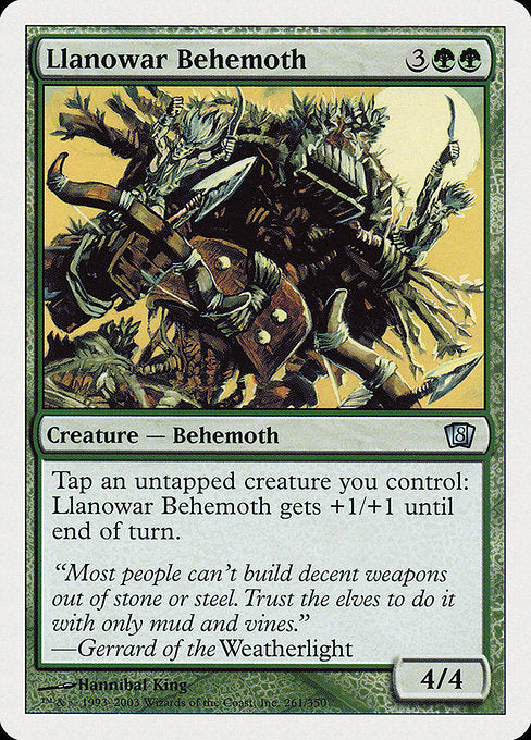 Llanowar Behemoth [Eighth Edition] | Myrtle Beach Games & Comics