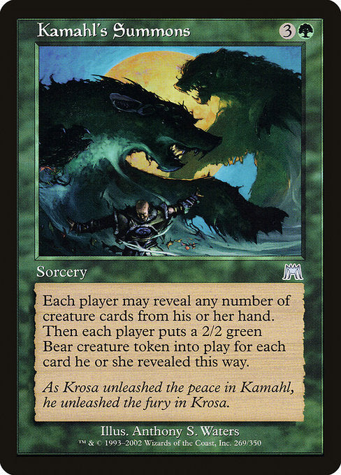 Kamahl's Summons [Onslaught] | Myrtle Beach Games & Comics