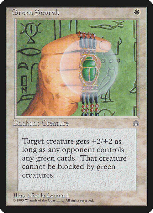 Green Scarab [Ice Age] | Myrtle Beach Games & Comics