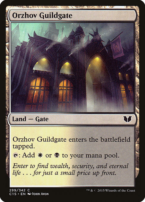 Orzhov Guildgate [Commander 2015] | Myrtle Beach Games & Comics