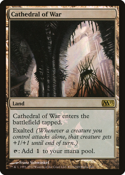Cathedral of War [Magic 2013 Promos] | Myrtle Beach Games & Comics
