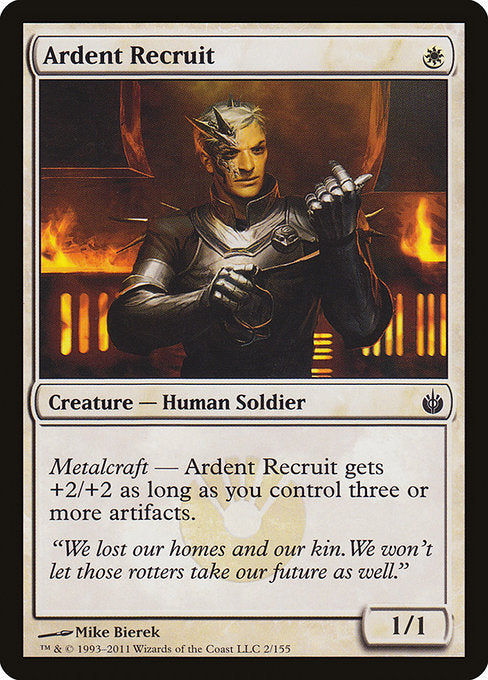 Ardent Recruit [Mirrodin Besieged] | Myrtle Beach Games & Comics