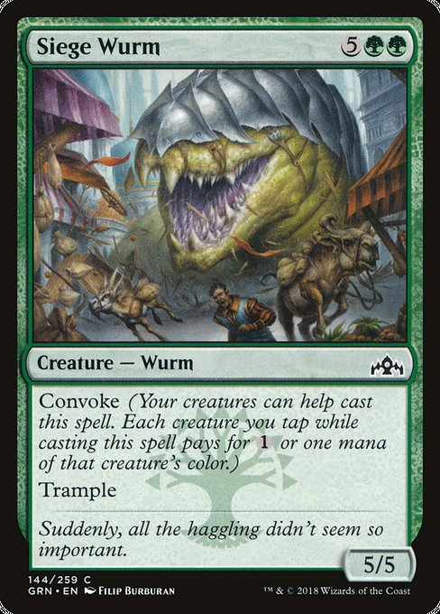 Siege Wurm [Guilds of Ravnica] | Myrtle Beach Games & Comics