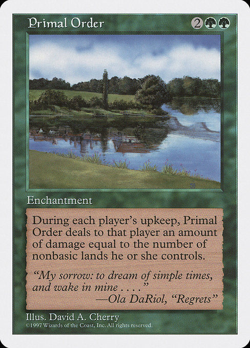 Primal Order [Fifth Edition] | Myrtle Beach Games & Comics