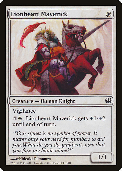 Lionheart Maverick [Duel Decks: Knights vs. Dragons] | Myrtle Beach Games & Comics