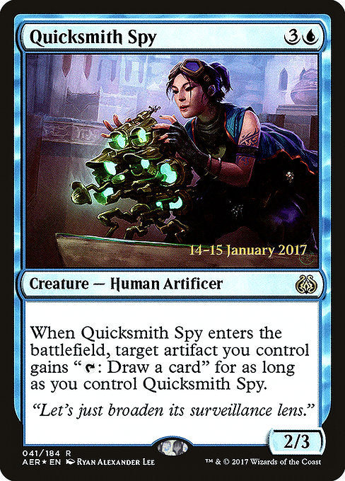 Quicksmith Spy [Aether Revolt Promos] | Myrtle Beach Games & Comics