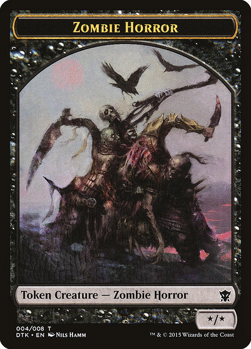 Zombie Horror [Dragons of Tarkir Tokens] | Myrtle Beach Games & Comics