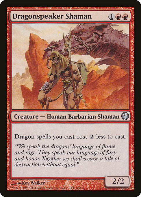 Dragonspeaker Shaman [Duel Decks: Knights vs. Dragons] | Myrtle Beach Games & Comics