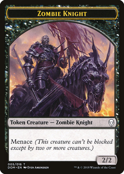 Zombie Knight [Dominaria Tokens] | Myrtle Beach Games & Comics