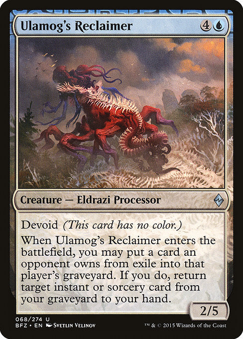 Ulamog's Reclaimer [Battle for Zendikar] | Myrtle Beach Games & Comics