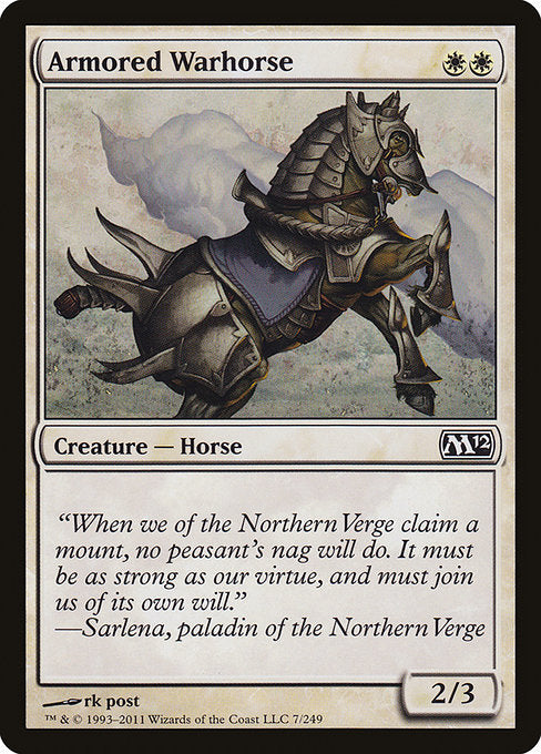 Armored Warhorse [Magic 2012] | Myrtle Beach Games & Comics