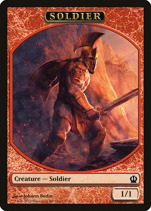 Soldier [Theros Tokens] | Myrtle Beach Games & Comics