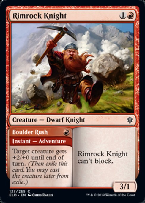 Rimrock Knight // Boulder Rush [Throne of Eldraine] | Myrtle Beach Games & Comics