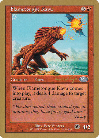 Flametongue Kavu - 2001 Jan Tomcani (PLS) [World Championship Decks 2001] | Myrtle Beach Games & Comics