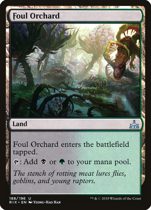 Foul Orchard [Rivals of Ixalan] | Myrtle Beach Games & Comics
