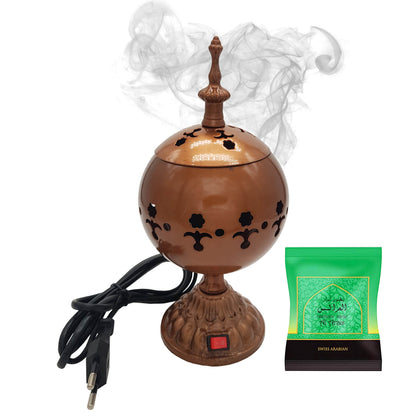 Exclusive Electrical Bakhoor Burner & 40g Fragrance Paste - Copper