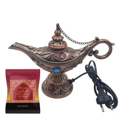 Electrical Bakhoor Burner & 40g Fragrance Paste - Copper
