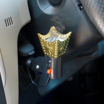 Car Electric Bakhoor Incense Burner Mabkhara Car Decor