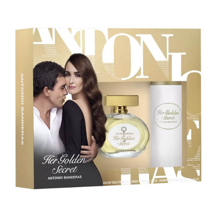 Antonio Banderas Her Golden Secret Gift Set For Women