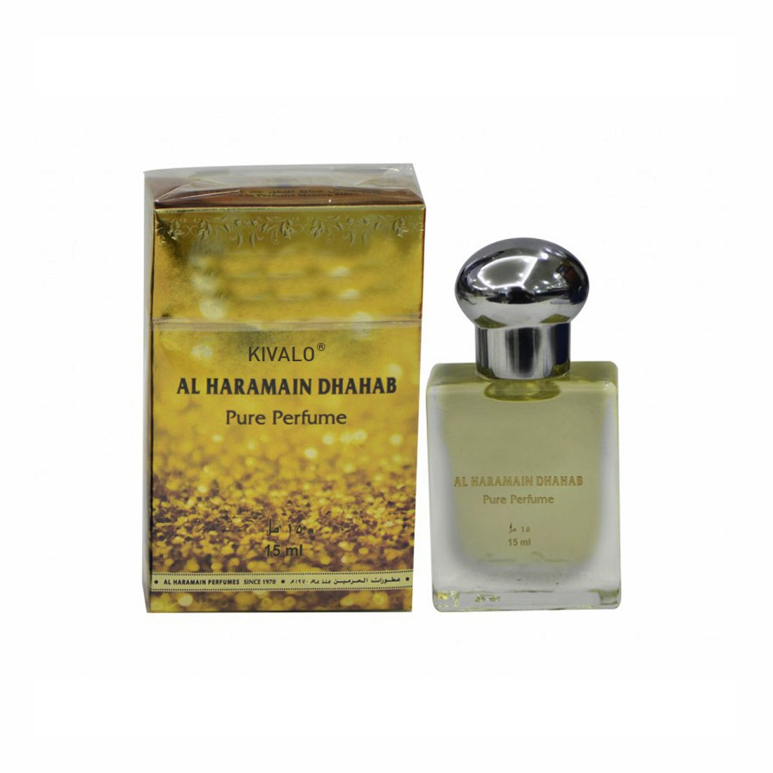 Al Haramain Dhahab & Forever Fragrance Pure Original Roll on Perfume Oil Pack of 2 (Attar) - 2 x 15 ml