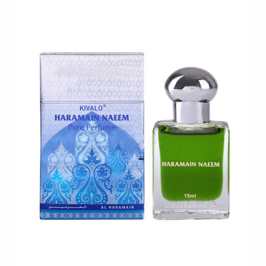 Al Haramain Naeem & Mukhallath Fragrance Pure Original Roll on Perfume Oil Pack of 2 (Attar) - 2 x 15 ml