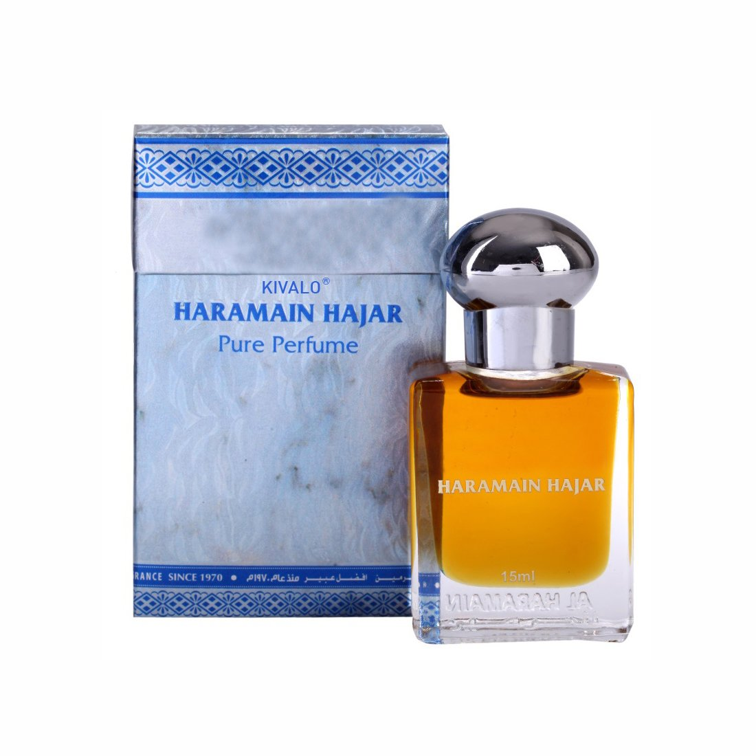 Al Haramain Hajar & Million Fragrance Pure Original Roll on Perfume Oil Pack of 2 (Attar) - 2 x 15 ml
